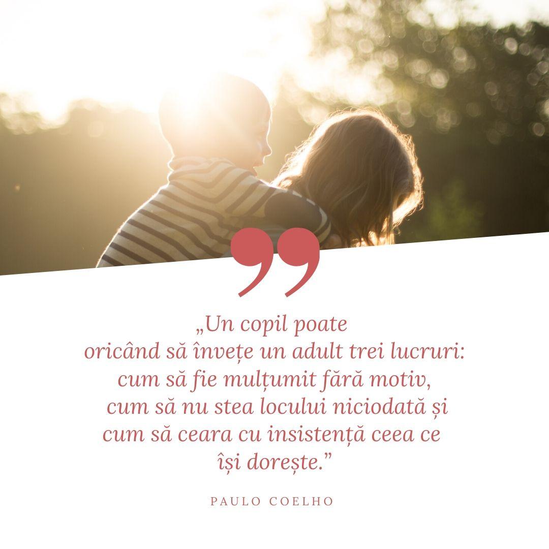 ce puem învăța de la copii citat paulo coelho