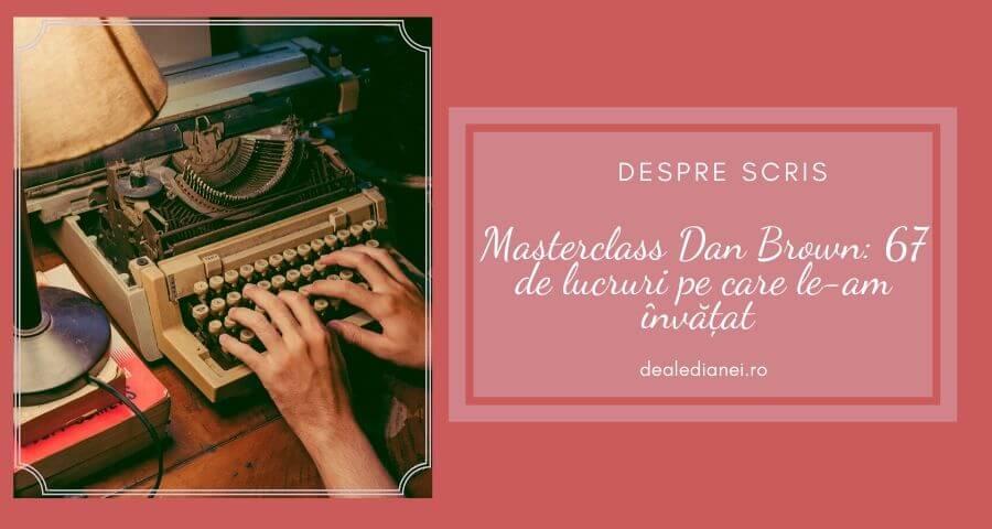 masterclass Dan Brown